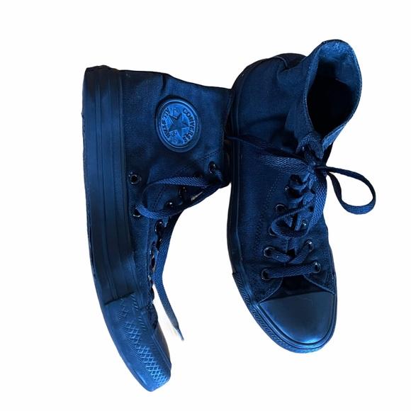 Converse Unisex matte black chuck taylor high tops
